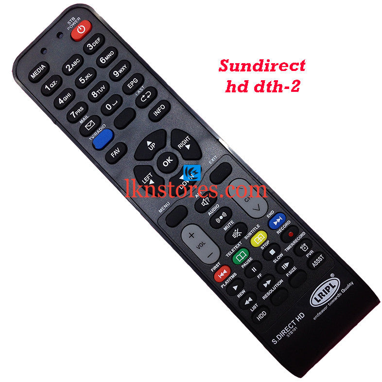 Sun Direct DTH HD Recorder replacement remote control