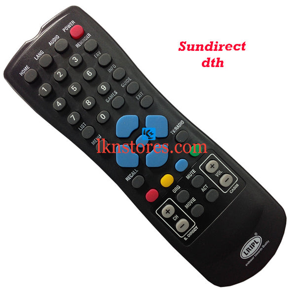 Sun Direct DTH replacement remote control