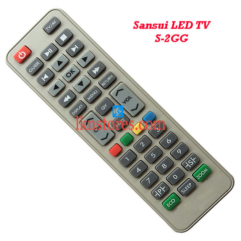 Sansui S 2GG LED replacement remote control