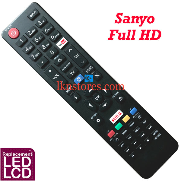 Sanyo Full HD LED TV Compatible Remote Control