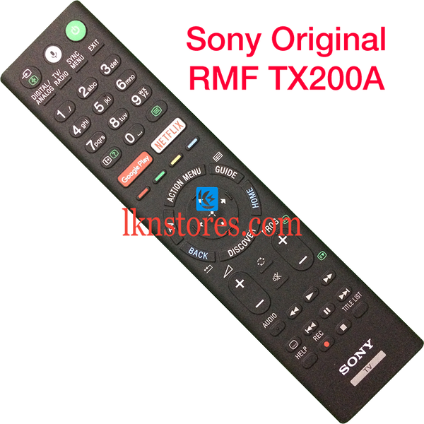 Sony RMF TX200A Original LED TV Remote with Google Play Netflix