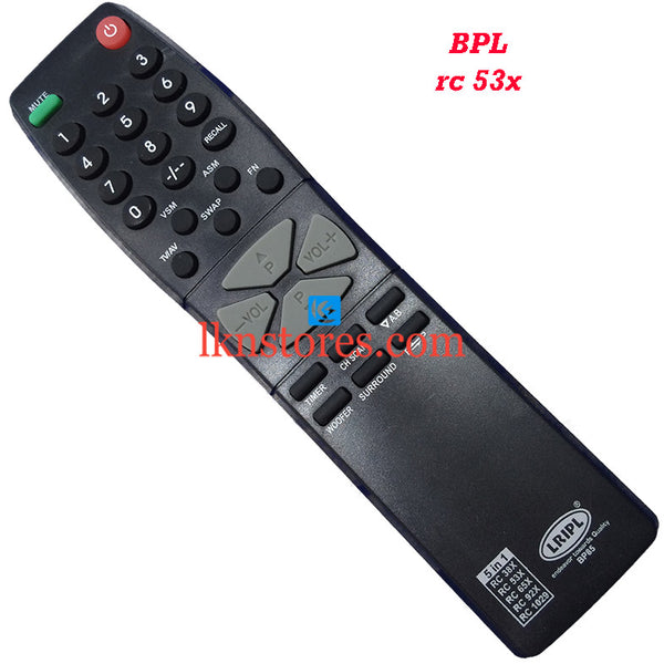 BPL RC 53X replacement remote control - LKNSTORES