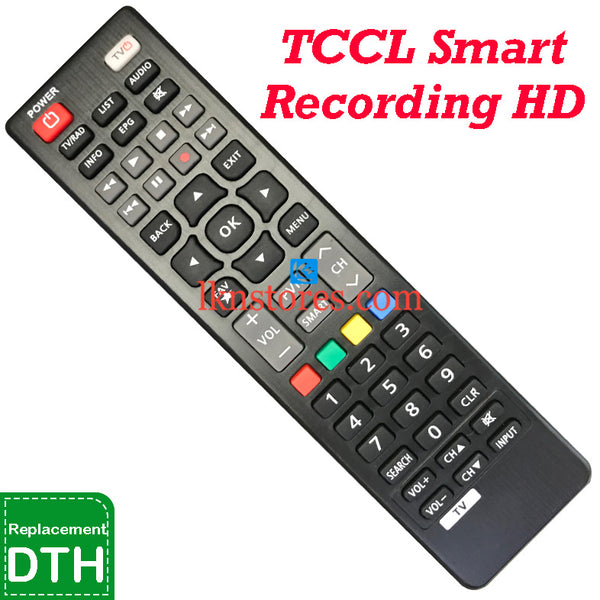 TCCL Set top Box HD Recording Smart DTH Replacement remote control-LKNSTORES