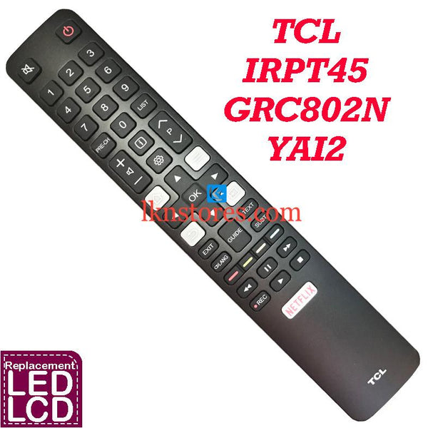 TCL TV 4K HDTV P20 Series C2 Series compatible remote control