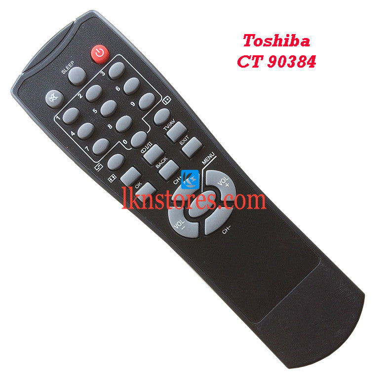 Toshiba CT 90384 LED Replacement Remote Control