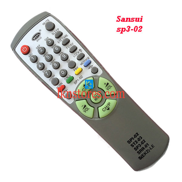 Sansui SP3 02 replacement remote control - LKNSTORES