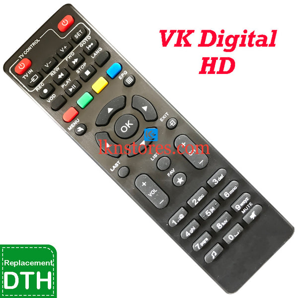 VK Digital Set top Box HD DTH Replacement remote control