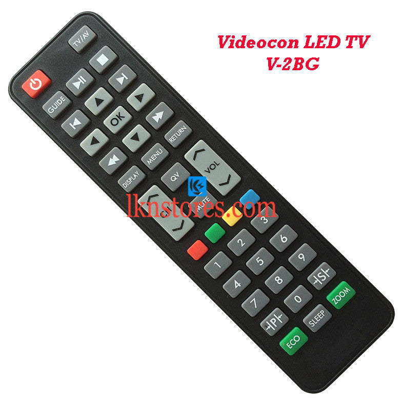 Videocon V 2BG LED replacement remote control - LKNSTORES