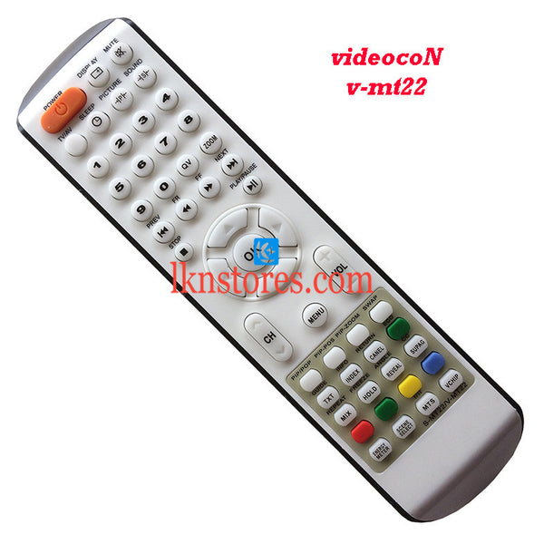 Videocon remote control V MT22 LED replacement