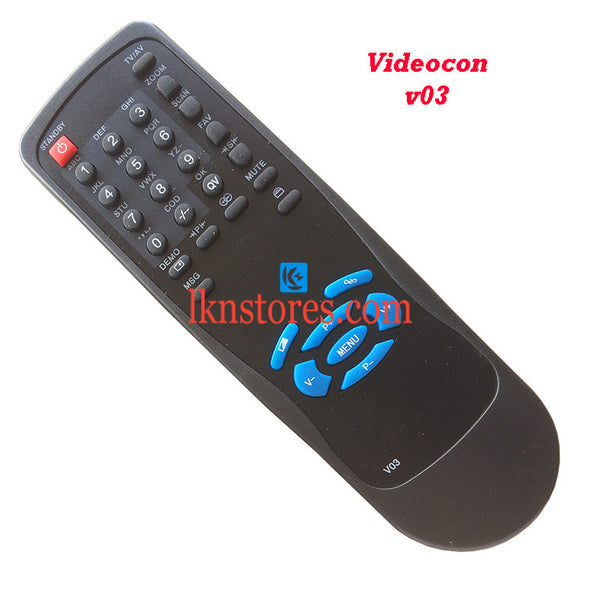 Videocon Remote Control V03 Replacement