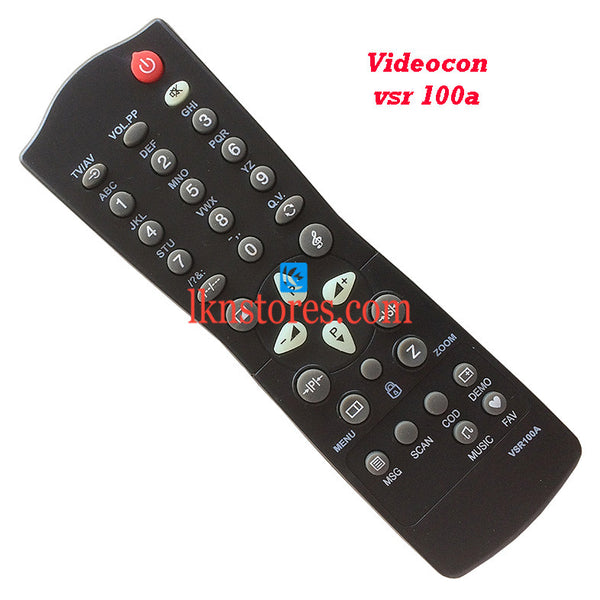 Videocon Remote Control VSR 100A Replacement