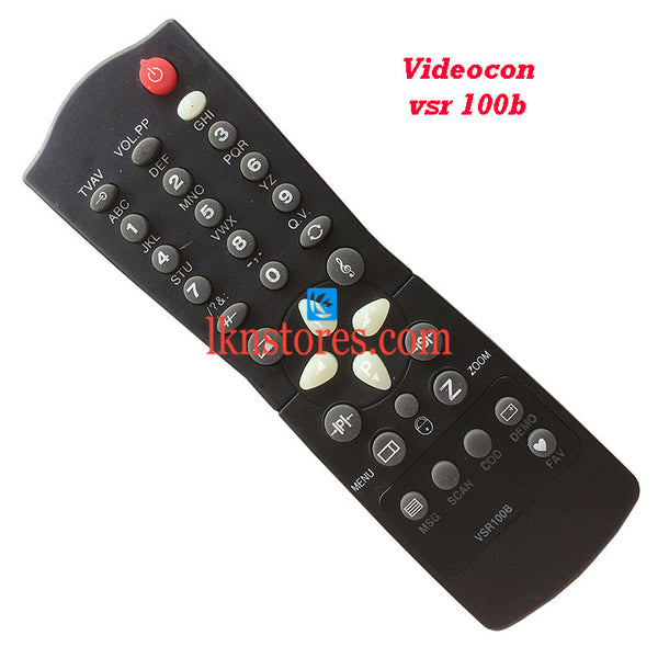 Videocon Remote Control VSR 100B Replacement