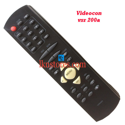 Videocon Remote Control VSR 200A Replacement