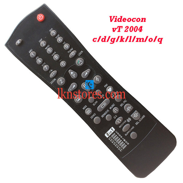 Videocon Remote Control VT 2004 8 in 1 Replacement