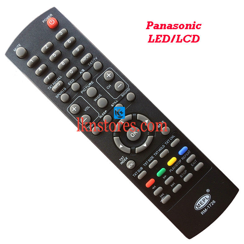 Generic Panasonic LED/LCD Tv Remote - LKNSTORES