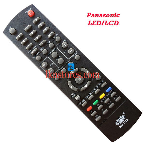 Panasonic LED LCD replacement remote control