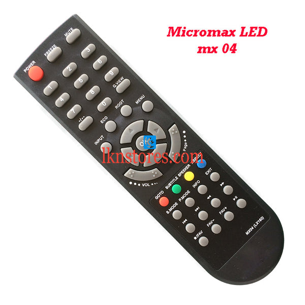 Micromax MX04 LED replacement remote control - LKNSTORES