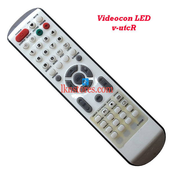 Videocon V UTCR LED replacement remote control - LKNSTORES