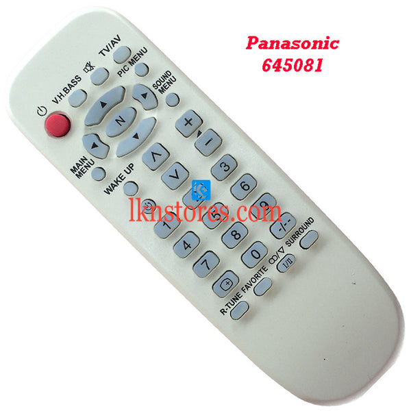 Panasonic 645081 replacement remote control