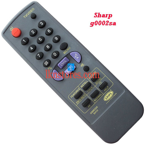 Sharp G0002SA replacement remote control