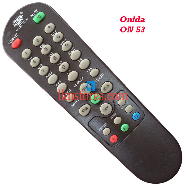 Onida ON53 replacement remote control