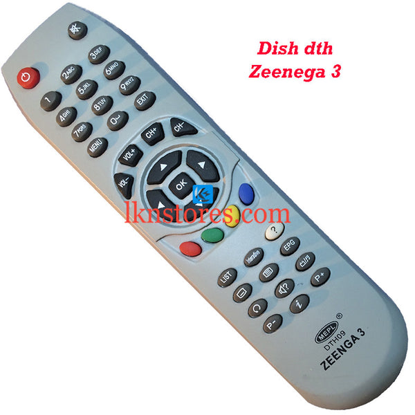 Dish DTH Zeenega 3 replacement remote control