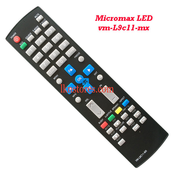 Micromax VM L9C11 MX LED replacement remote control