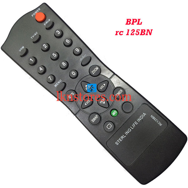 BPL RC 125BN replacement remote control - LKNSTORES