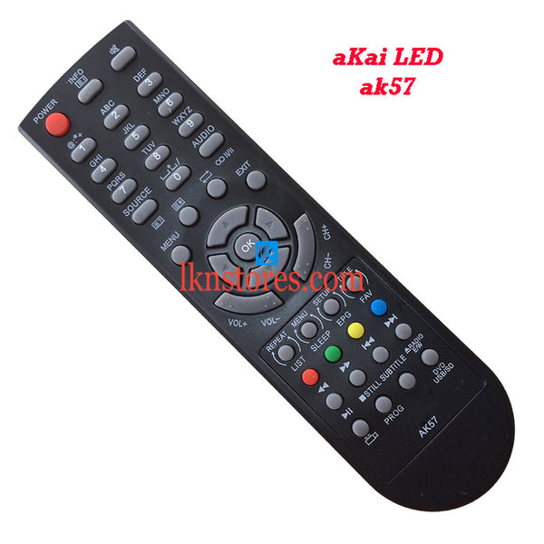 Akai AK57 LED replacement remote control - LKNSTORES