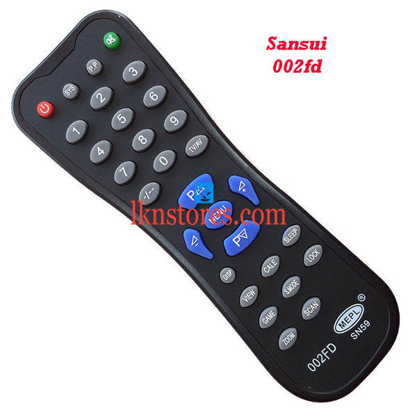 Sansui 002FD replacement remote control