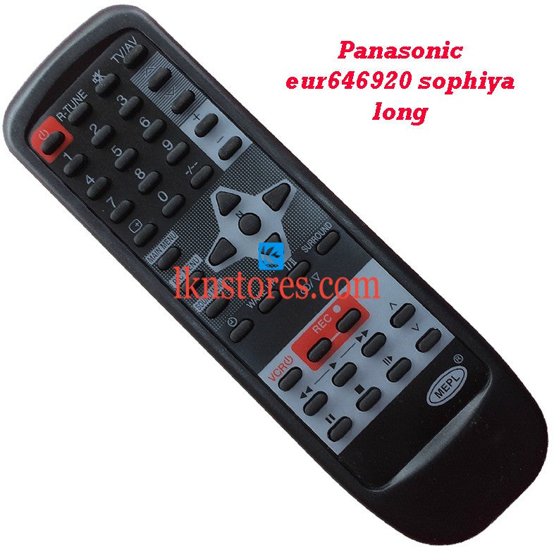 Panasonic EUR 646920 replacement remote control