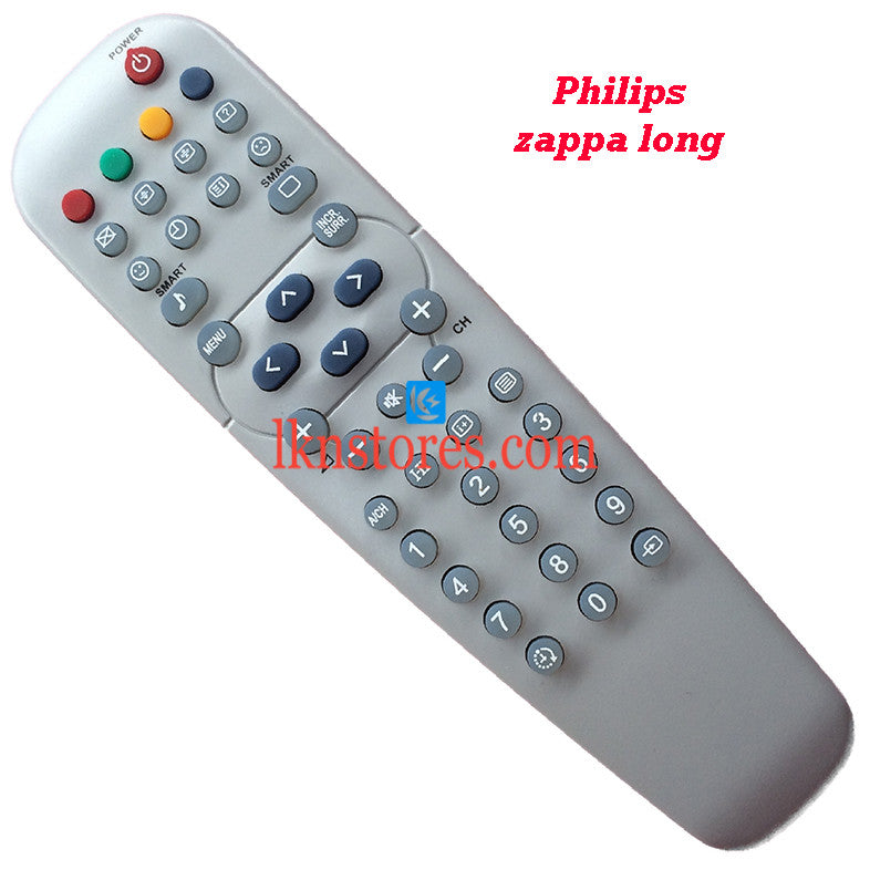 Compatible Philips TV Remote Zappa Long - LKNSTORES