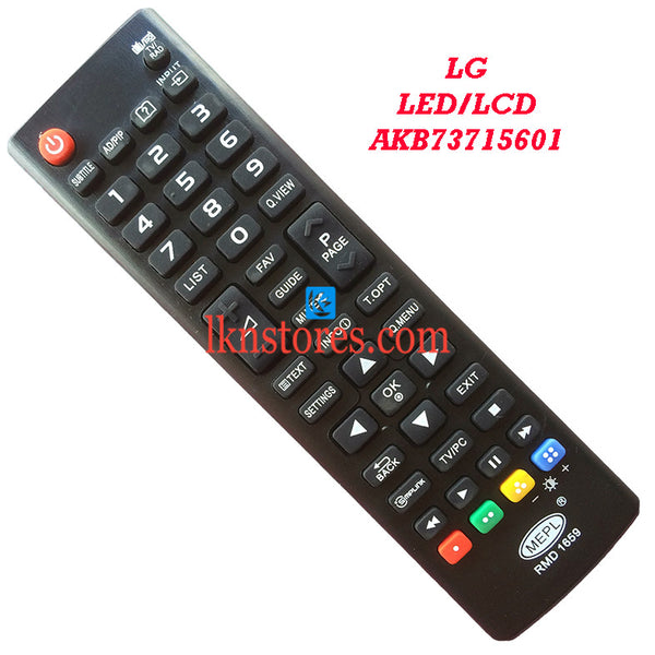 LG AKB73715601 LED replacement remote control - LKNSTORES
