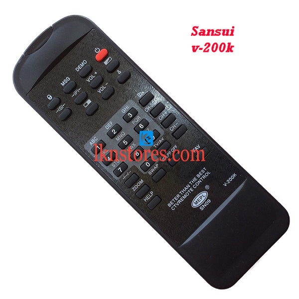 Sansui V 200K replacement remote control - LKNSTORES