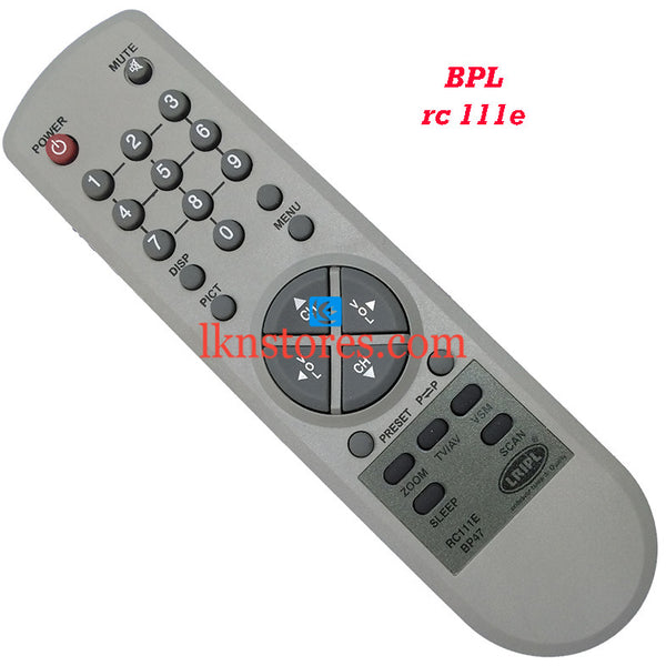 BPL RC 111E replacement remote control