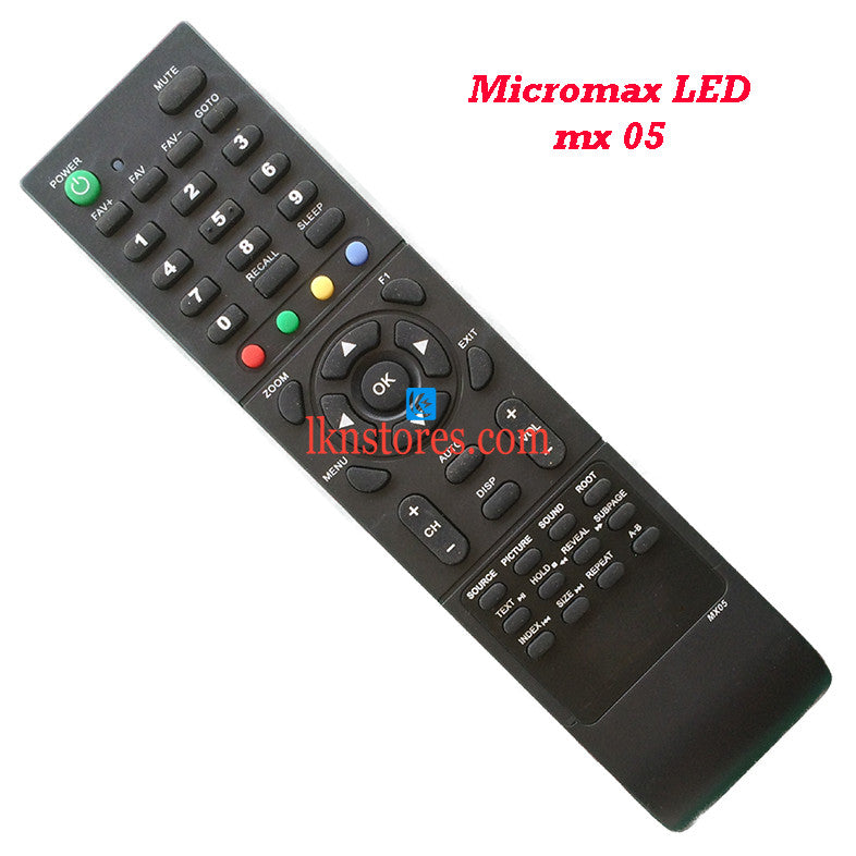 Micromax MX05 LED replacement remote control
