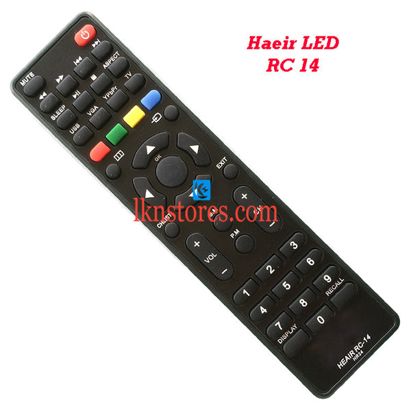 Generic Haier LED TV Remote RC 14 - LKNSTORES