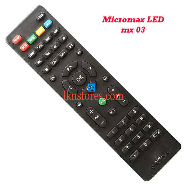 Micromax MX03 LED replacement remote control - LKNSTORES