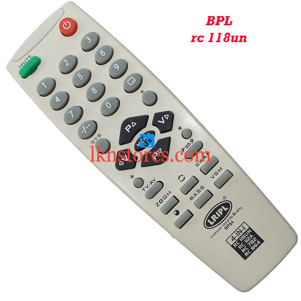 BPL RC 118UN replacement remote control