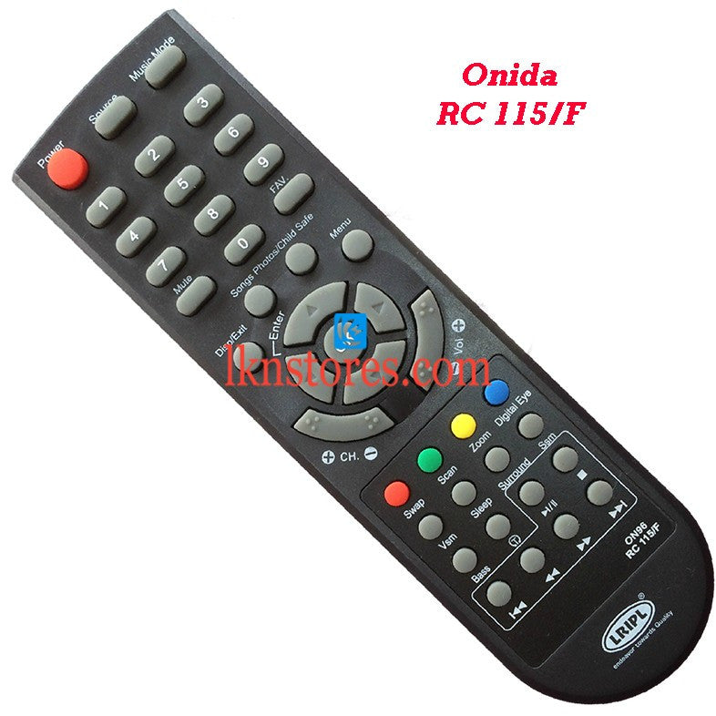 Onida RC 115F replacement remote control