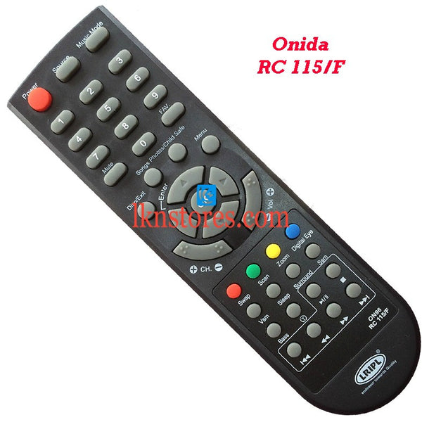 Onida RC 115F replacement remote control - LKNSTORES