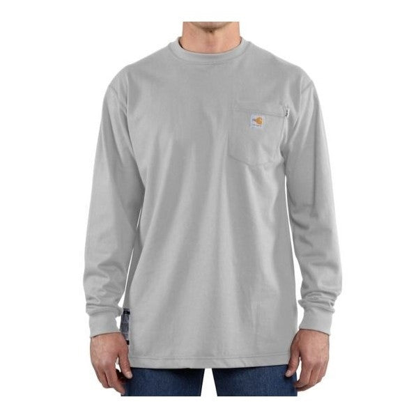 Flame-Resistant Carhartt Force® Cotton Long-Sleeve T-Shirt