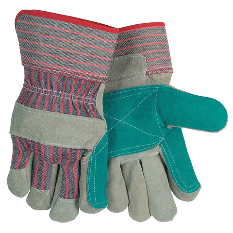 Memphis - Men's Large Split Leather/Jointed Double Palm Gloves w/Rubberized Safety Cuff
