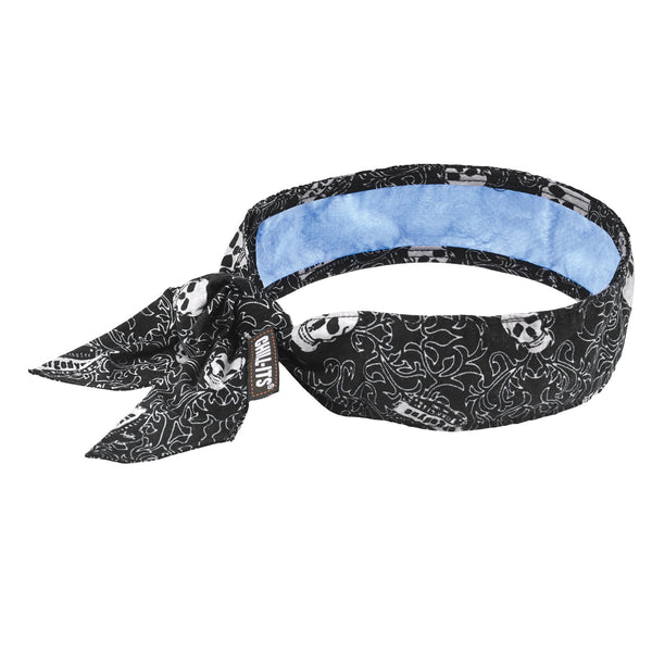 Ergodyne Chill-Its™ 6700CT Advanced PVA Evaporative Cooling Bandana With Tie Closure And Towel