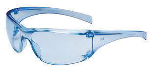 3M Virtua AP Safety Glasses With Light Blue Frame And Clear Polycarbonate Anti-Scratch Hard Coat Lens