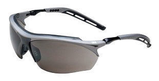 3M Maxim GT Safety Glasses With Metallic Gray And Black Nylon Frame And Gray Polycarbonate Anti-Fog Lens