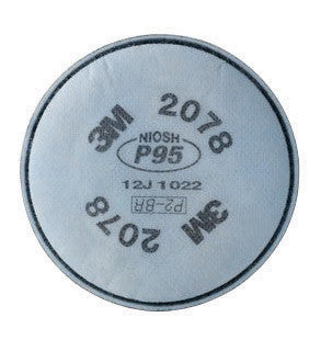 3M 2078 P95 Filter For 5000, 6000, 6500, 7000 And FF-400 Series Respirators