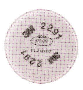 3M 2291 P100 Filter For 5000, 6000, 6500, 7000 And FF-400 Series Respirators (2 Per Bag, 50 Bags Per Case)