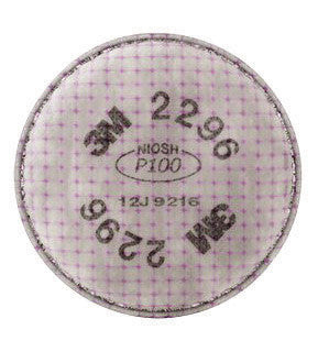 3M 2296 P100 Filter For 5000, 6000, 6500, 7000 And FF-400 Series Respirators (2 Per Bag, 100 Bags Per Case)