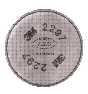 3M 2297 P100 Filter For 5000, 6000, 6500, 7000 And FF-400 Series Respirators (2 Per Bag, 50 Bags Per Case)